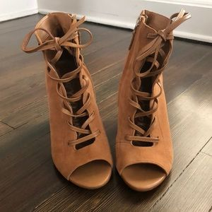 Sam Edelman Yvie Lace Up Suede Booties